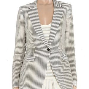 Rag & Bone Ivory/Black Striped 42nd Street Blazer